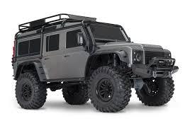 land rover silver land rover defender crawler 110 trx 4 silver grey c trx82056 4