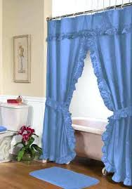 swag shower curtains with valance ruffled double swag shower