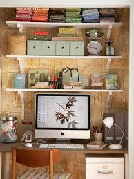 How To Get Organized At Home by Ideas U0026 Tips Monitor On Wood Table With Wall Decor And Floating