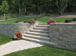 Retaining Wall Stairs Design Retaining Walls With Stairs In The Middle Retaining Walls