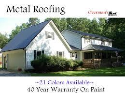 metal roofing u2013 overman u0027s