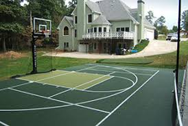 Basketball Court In The Backyard Sport Court Midwest Sport Court Midwest Sport Court Specialists