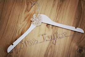 Wedding Dress Hanger Personalised Wedding Dress Hangers