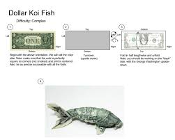 Origami Koi Fish Dollar Bill - an origami koi fish made with a 1 dollar bill pics