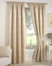 Nursery Blackout Curtains Uk by Crompton Natural Ready Made Curtains Pencil Pleat Curtains