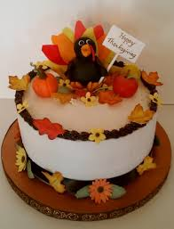 happy thanksgiving cake all decorations made from gumpaste