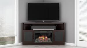 Electric Fireplace Entertainment Center Corner Electric Fireplace Tv Stand Wenge Finish Furnitech