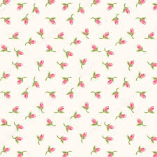 shabby chic wrapping paper shabby chic pattern with tiny rosebuds stock vector