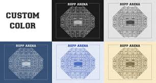 vintage print of rupp arena seating chart on photo paper matte