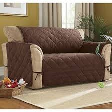 Quilted Recliner Covers Reclining Sofa Slipcover Suede Taupe Adapted For Dual Recliner