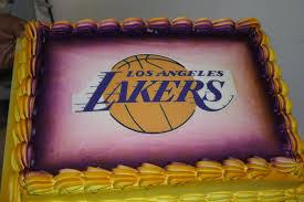 hector u0027s custom cakes lakers cake