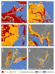 Us East Coast Map New York City May Get 20 More Sea Level Rise Than Global Average