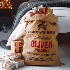 personalised christmas sack santa sack xmas and grosgrain ribbon