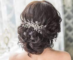 hair pieces for wedding bridal hair comb with swarovski pearls bridal headpiece bridal