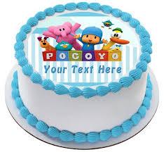 pocoyo cake toppers pocoyo edible birthday cake or cupcake topper edible prints on