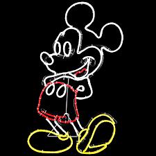 shop disney pre lit mickey mouse sculpture with constant multicolor