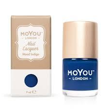 stamping nail polish mood indigo moyou london