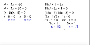 alg 2 4 3 solving quadratic equations by factoring