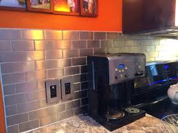 small kitchen decoration using stainless steel kitchen backsplash