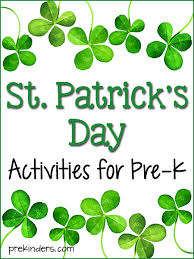 st patrick u0027s activities and lesson plans for pre k and preschool