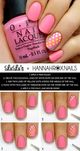 mani monday pink and candy dot accent nail mani tutorial accent