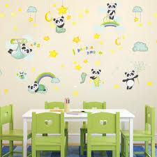 aliexpress com buy diy decal cartoon cute panda wall stickers