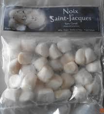 cuisiner les noix de st jacques surgel馥s noix de jacques sans corail surgelé sans marque 300 g