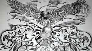 coat of arms tattoo design speed drawing youtube