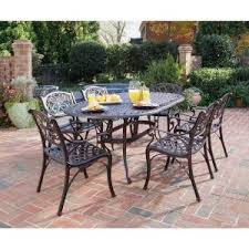 Solana Bay 7 Piece Patio Dining Set by Home Styles Biscayne Bronze 7 Piece Swivel Patio Dining Set 5555