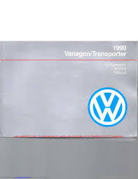 volkswagen transporter 1990 t4 4 g owners manual