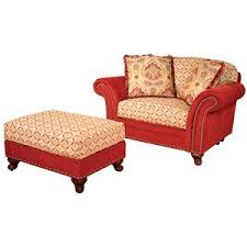 traditional ottoman and a half with nailhead trim by king hickory