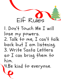 elf on the shelf rules printable to help kids remember the rules