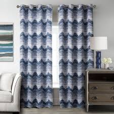 Living Room Curtains Cheap Online Get Cheap Blue Striped Drapes Aliexpress Com Alibaba Group