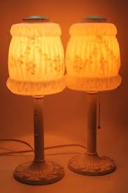Glass Lamp Shades For Table Lamps Vintage Replacement Glass Lamp Shades