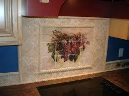 kitchen tile backsplash murals kitchen awesome kitchen murals backsplash tuscan tile murals