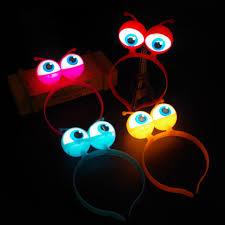 blacklight party supplies led headband light up eyeballs hair band