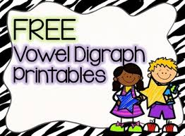 free no prep vowel digraphs printables awesome for reviewing