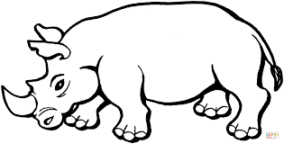 rhinoceros coloring free printable coloring pages
