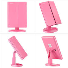 magnification mirror with light magicfly 10x 3x 2x 1x magnifying mirror 21 led lighted pink magicfly