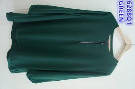 blouse wanita women sleeves plain blouse perempuan 6288q1