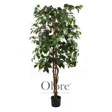 artificial ficus tree green 5ft indoor artificial tree by olore
