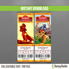 disney the lion guard birthday ticket invitations instant