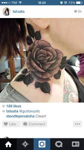 tattoo of a rose side neck tattoo of a rose photos pictures and sketches
