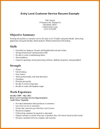 Best Resume Customer Service Representative by Entry Level Customer Service Representative Resume Resume For