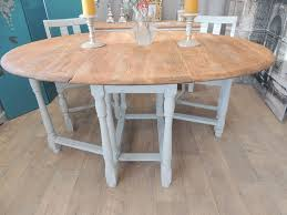 shabby chic vintage solid oak dining table with 4 chairs