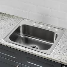 soleil 25 x 22 stainless steel drop in single bowl kitchen sink