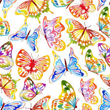 abstract pattern butterfly abstract seamless waterclor butterfly pattern hand drawn