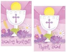 communion invitation communion invitation and thank you cards combo