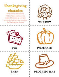 printable thanksgiving charades words thanksgiving printables