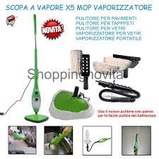 scopa per tappeti elettrica a vapore verde h2o steam mop 5 in 1 lavapavimenti tappeti